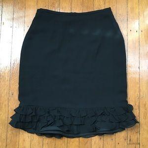 Kay Unger New York 100% Silk Skirt. Black. Size 4.